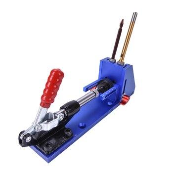 Карманное отверстие джиг деревообрабатывающий Ремонтный комплект Карпентер система направляющая с рычажным зажимом 9,5 мм и 3/8  дюймов ступ