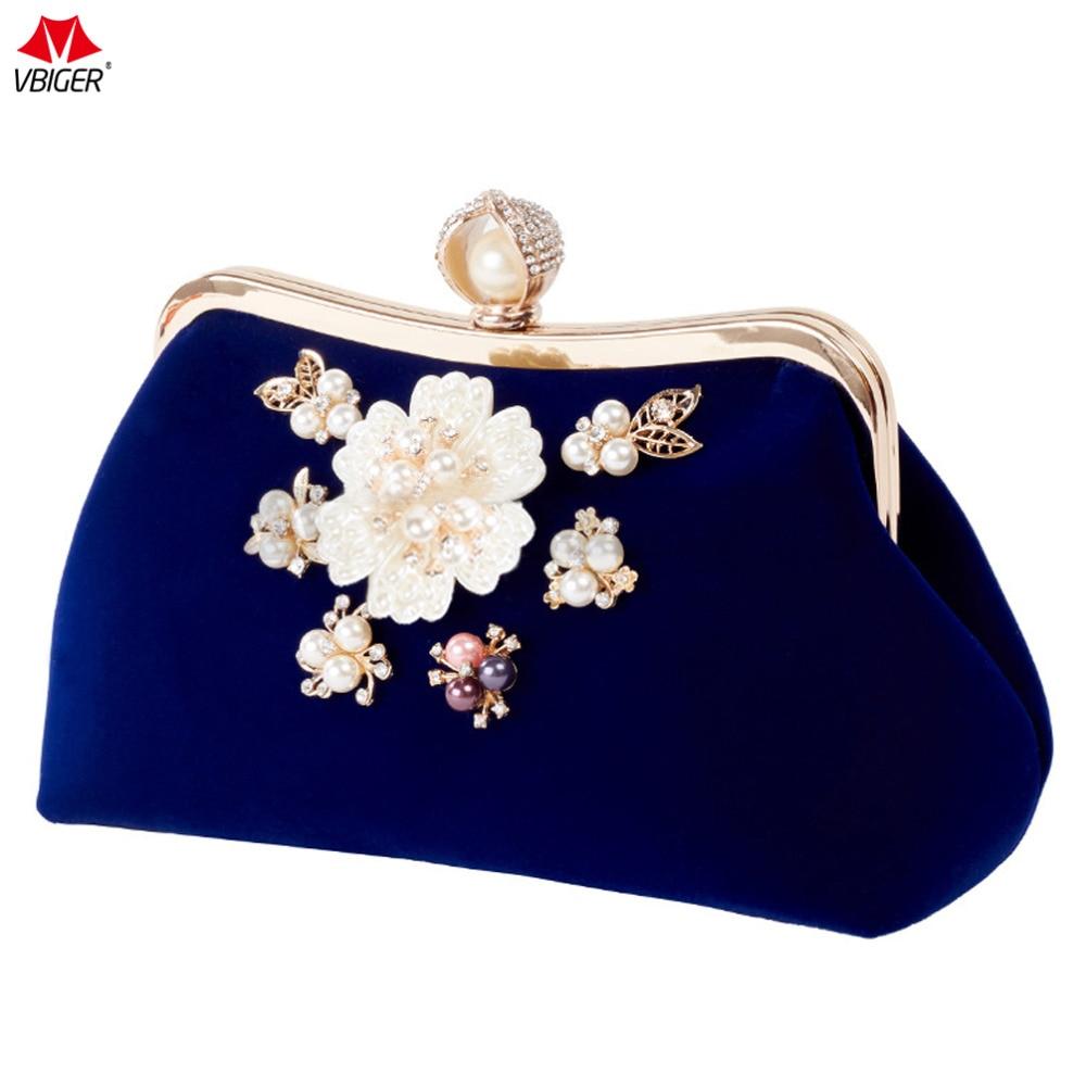 Vbiger Women Clutch Bag Vintage Evening Handbag Chic Plush Dinner Bag With Detachable Chain Shoulder Strap For Elegant Women цена