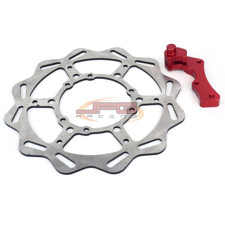 270mm Oversize Front Wavy Brake Disc Rotor + Bracket For CR125 CR250 CRF230 CRF250 CRF450 Motocross Enduro Dirt bike Motorcycle