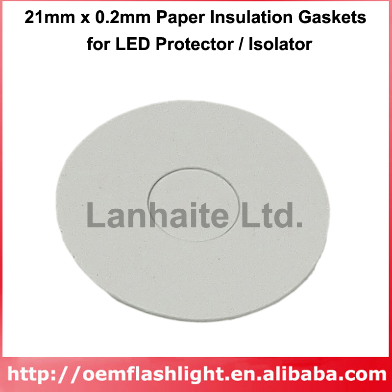 21mm X 0.2mm Paper Insulation Gaskets For LED Protector / Isolator (10 Pcs)