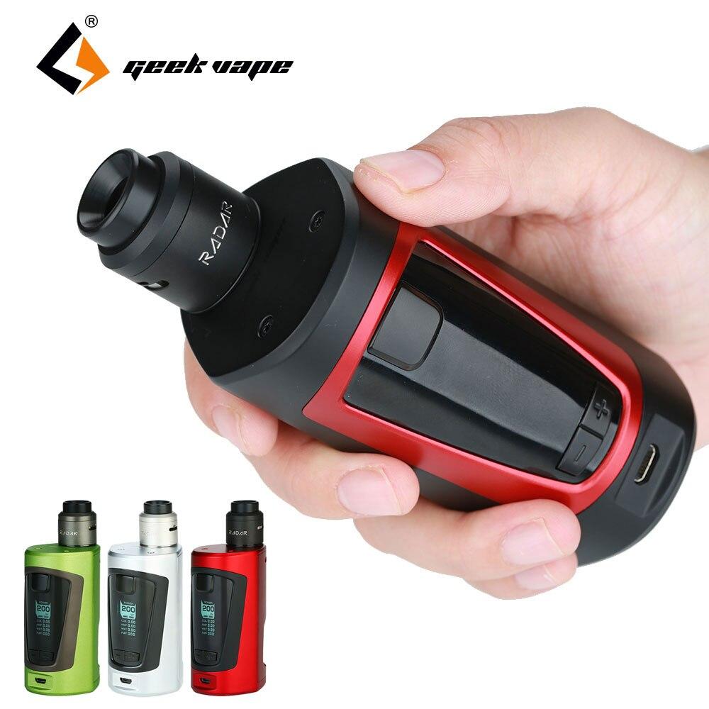 GeekVape Original GBOX Squonker 200 W TC Kit avec Radar RDA 8 ml Squonk bouteille comme chipset pas de batterie E cigarette