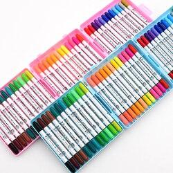 Macio e duro duplo-headed aquarela caneta conjunto berçário crianças não-tóxico lavável alunos pintura canetas coloridas