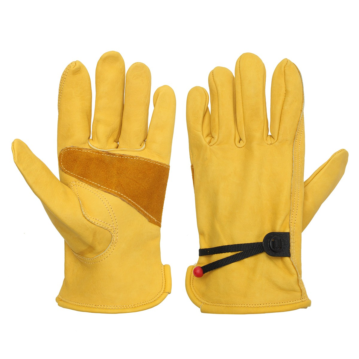 Safurance one Pair Yellow Driver Security Protection Wear Safety Workers Welding Moto Gloves Workplace Safety new safurance pro tree carving fall protection rock climbing equip gear rappelling harness workplace safety