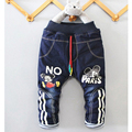 2017/ autumn winter / new boy's clothes 1-4 years old boy fashion jeans cartoon cartoon fashion jeans / cashmere / thickening