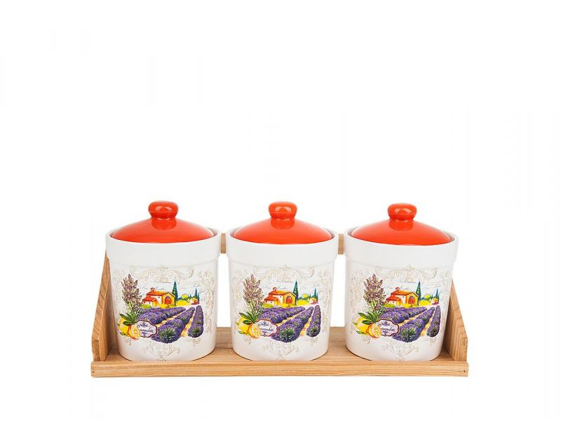Set jars bulk Polystar Collection, Provence, 4 subject bottles jars