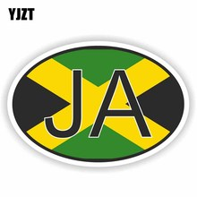 Sticker Decal YJZT Personality-Accessories JAMAICA Reflective Car PVC Country Code 6-0259