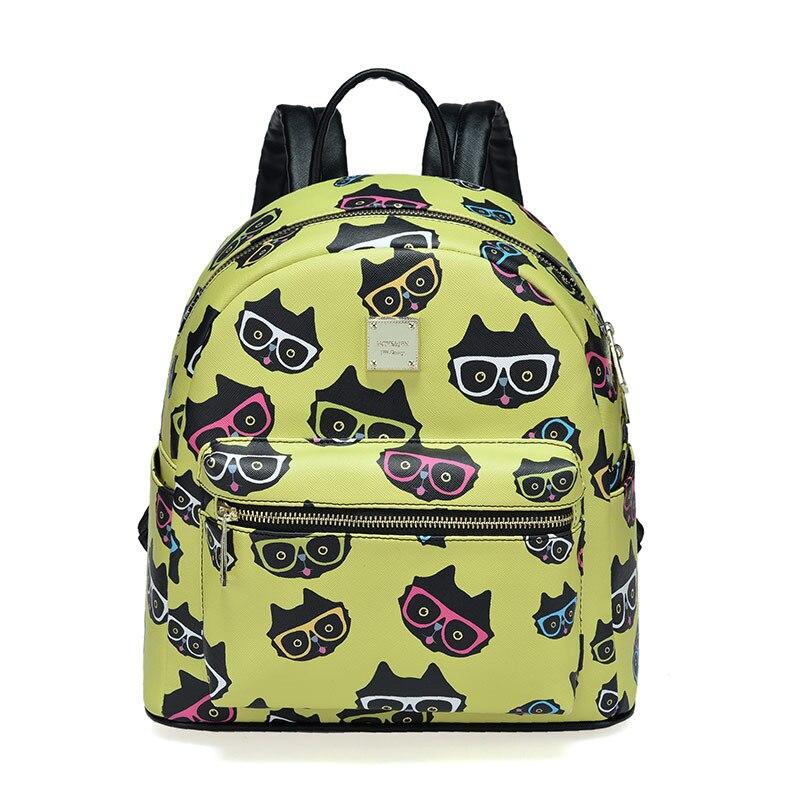 Модные кошка Школьный Рюкзак <font><b>Kawaii</b></font> SAC DOS для отдыха корейские женские рюкзак для ноутбука путешествия женский рюкзак