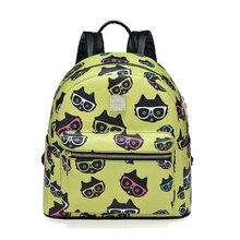 Модные кошка Школьный Рюкзак Kawaii SAC DOS для отдыха корейские женские рюкзак для ноутбука путешествия женский рюкзак