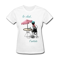 Party Cat Designs The Cat The Artist Ladies Gift's t-shirts Discount Shirts Making Sister Green Garment