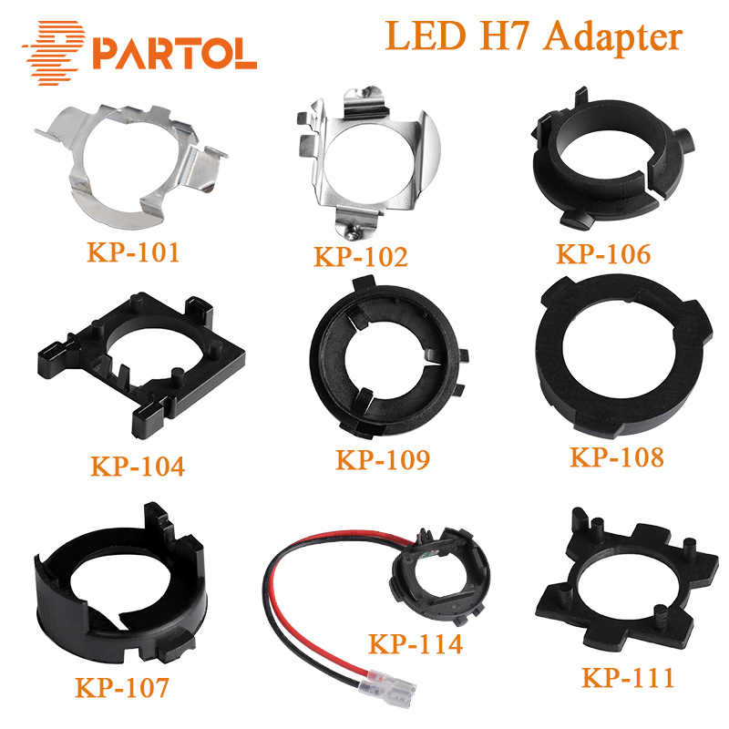 Partol H7 LED Adapter H7 Bulb Holder Socket Retaining Clip Base for Kia BMW AUDI A3 A4 VW Golf NISSAN Mercedes-Ben Hyunda Ford