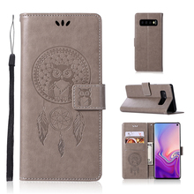 For Cover Samsung Galaxy S10 Case Dreamcatcher Leather Flip for Wallet 6.1