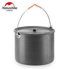 Naturehike – ustensiles de cuisine de Camping, grande capacité, 10l, pique-nique, ultraléger, 1.1Kg, alliage d'aluminium, Portable