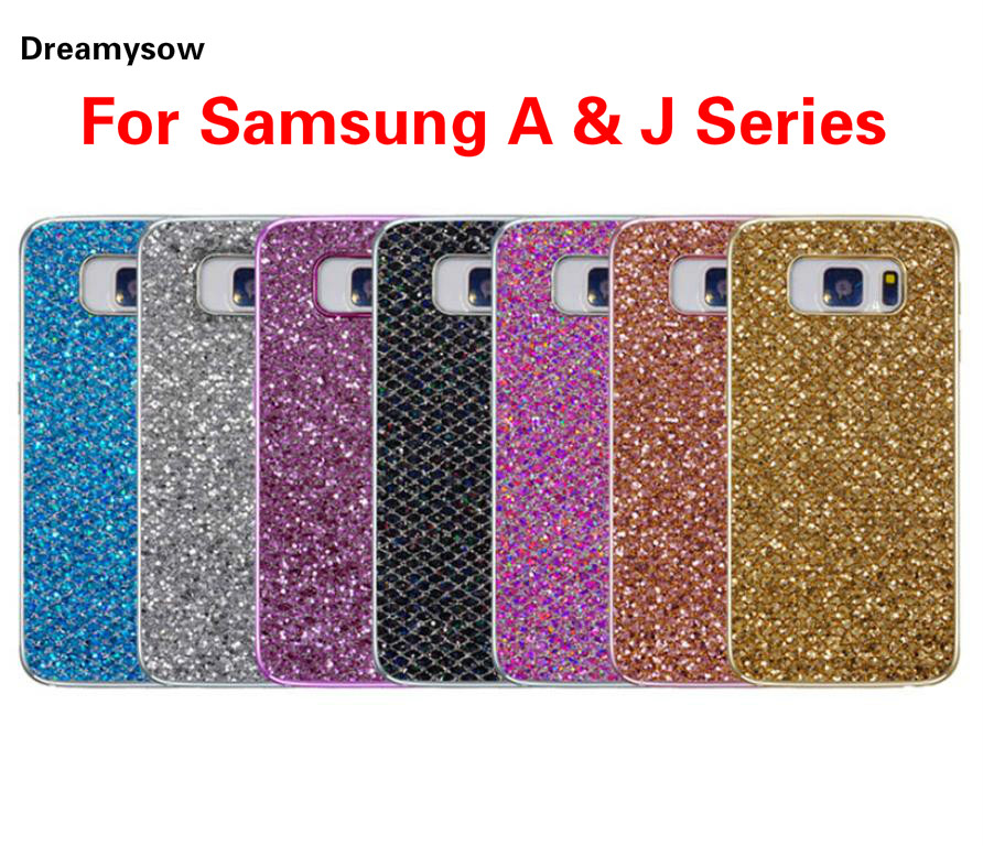 For Samsung Galaxy A & J Series Plating Glitter TPU Soft Shining Phone Case For A3 A5 A7 J1 J2 J3 J5 J7 2016 2015 2017 J1Ace