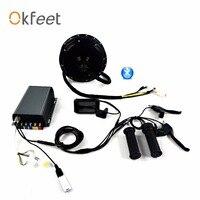 Okfeet QS V3 50 H 72 В 3000 Вт 5000 Вт мотор bluetooth программирования приложение Электрический велосипед conversion kit системы цветной дисплей