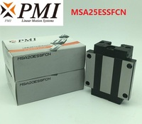 10pcs/lot Original Taiwan PMI MSA25E N MSA25ESSFCN linear guideway sliding block Carriage for CO2 laser machine MSA25E