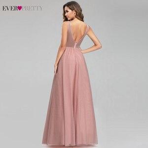 Image 4 - Elegante Prom Jurken Ever Pretty Sexy Roze Kralen V hals A lijn Illusion Avond Partij Jassen EP00901 Gala Jurken Dames 2020
