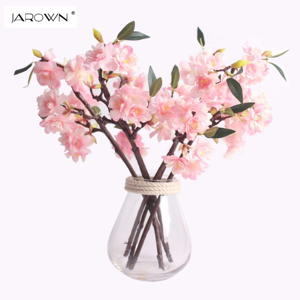 Artificial Silk Flower Mini Cherry Blossom Sakura For Wedding Party Table Decor Acessorise Flores
