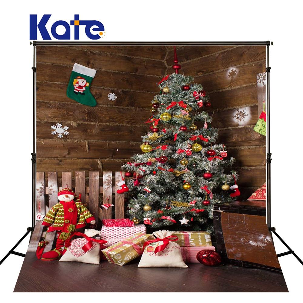 KATE Christmas Backdrop Photography Family Backdrops Christmas Tree Backdrops Wood Floor Backdrop for Newborn Photo Studio
