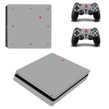 Gray Style Vinyl Cover Decal PS4 Slim Skin Sticker Cover Wrap