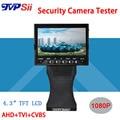 4.3 polegada TFT LCD COLOR MONITOR 1080 P AHD CÂMERA de Aperto e Dobrar TESTADOR Com Cabo de Rede Teste Freeshipping
