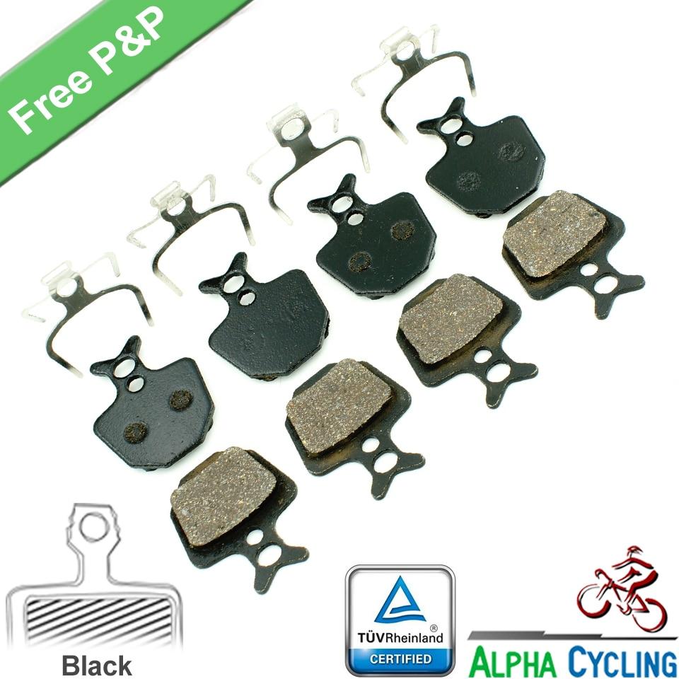 Kerékpár tárcsafékbetétek FORMULA ORO K18 ORO K24 ORO PURO tárcsafékhez, 4 pár, gyanta fekete osztály