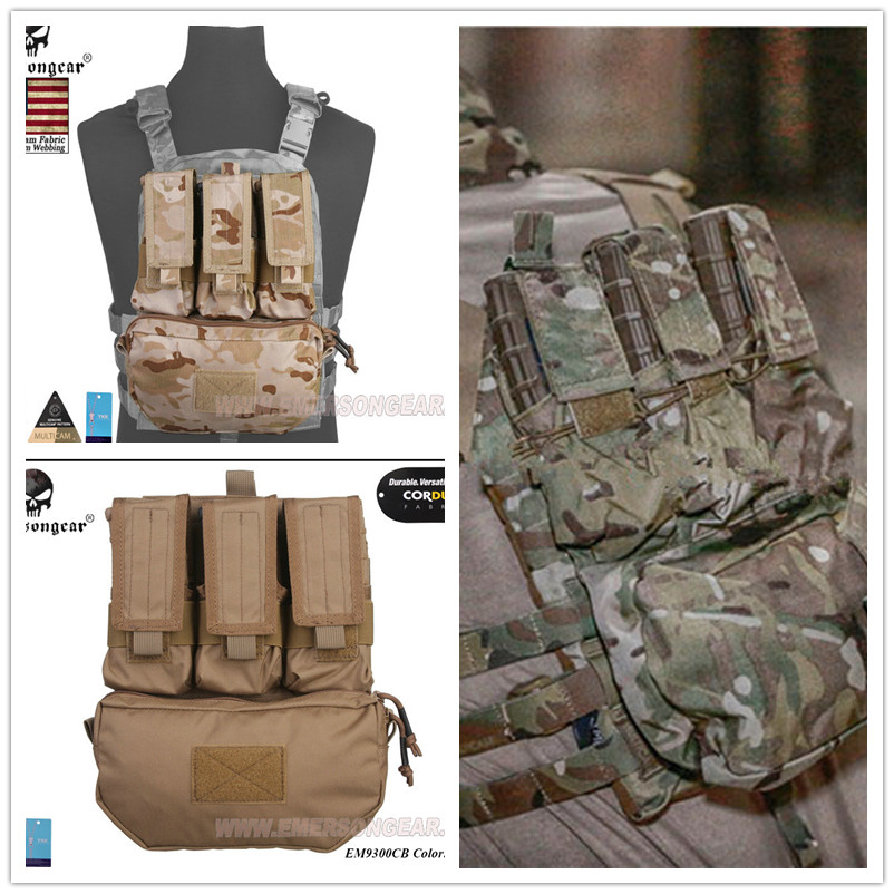Emersongear Assault Back Panel Pack 500D Cordura Coyote Brown Military MOLLE Pack FOR Hunting Vests