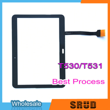 Original For Samsung Galaxy Tab 4 10.1 LTE 3G T530 T531 SM-T530 Touch Screen Digitizer Glass Sensor Panel Tablet PC Replacement original new 10 1 inch f odys space 10 plus 3g tablet touch screen panel digitizer glass sensor replacement free shipping