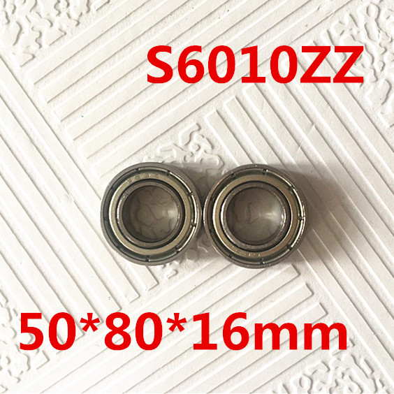 10pcs Free Shipping SUS440C environmental corrosion resistant stainless steel deep groove ball bearings S6010ZZ 50*80*16 mm high quality sus440c environmental corrosion resistant stainless steel deep groove ball bearings s6210zz 50 90 20 mm