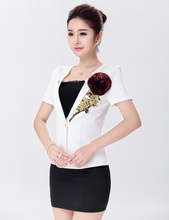 MOONIGHT Black and White Sexy Pilot Costume Uniform 4 Pcs Stewardess Costume For Women Halloween Cosplay Party