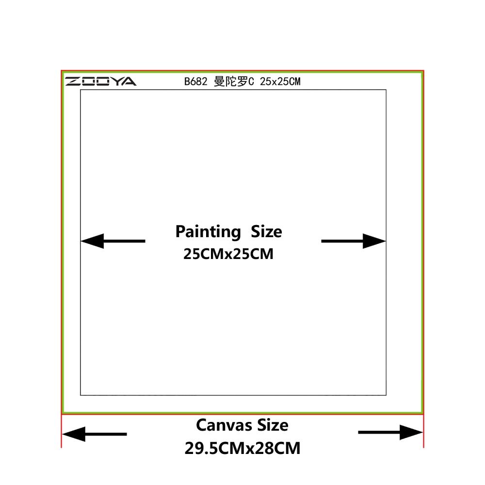 """""""ZOOYA Full Diamond"""" siuvinėjimo tapybos rožės amatai """"Dy - Menai, amatai ir siuvimas - Nuotrauka 2"""