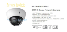 Free Shipping DAHUA Security IP Camera CCTV 8MP IR Dome Network Camera with POE IP67 IK10 Without Logo IPC-HDBW5830R-Z