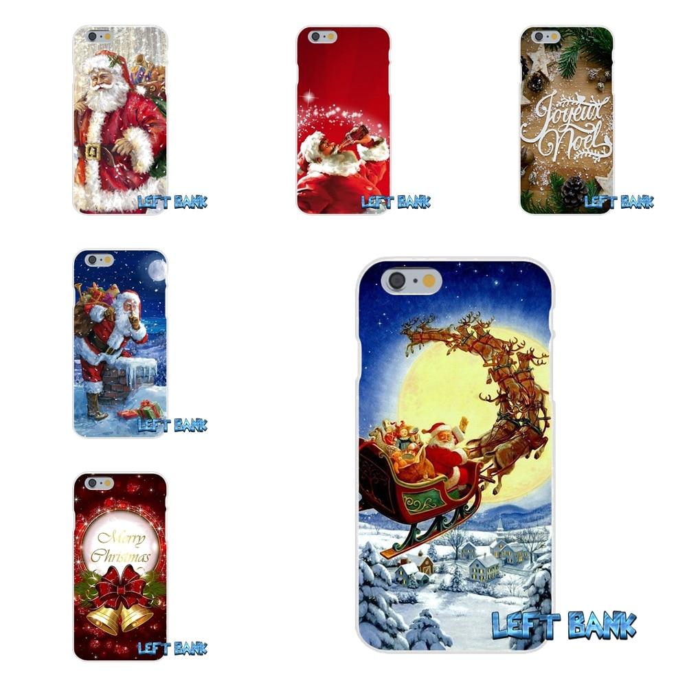 Для Samsung Galaxy S3 S4 S5 Mini <font><b>S6</b></font> S7 Edge S8 плюс Примечание 2 3 4 5 веселые рождественские подарки Санта Клаус мягкий силиконовый чехол для телефона
