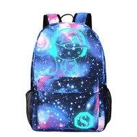 Nylon Wanterproof Backpack Women Men Letters Printing Backpacks Luminous Cartoon Bags For School Laptop Mochila Travel