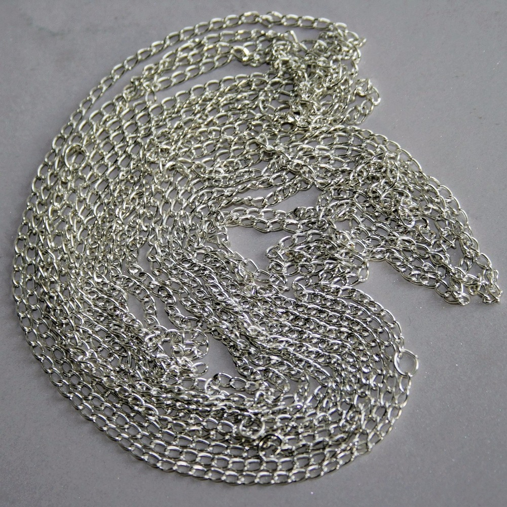[wamami] 1.5mm Silver Metal Chain BJD Dollfie Jewelry Necklace Braclace Diy Craft 95cm