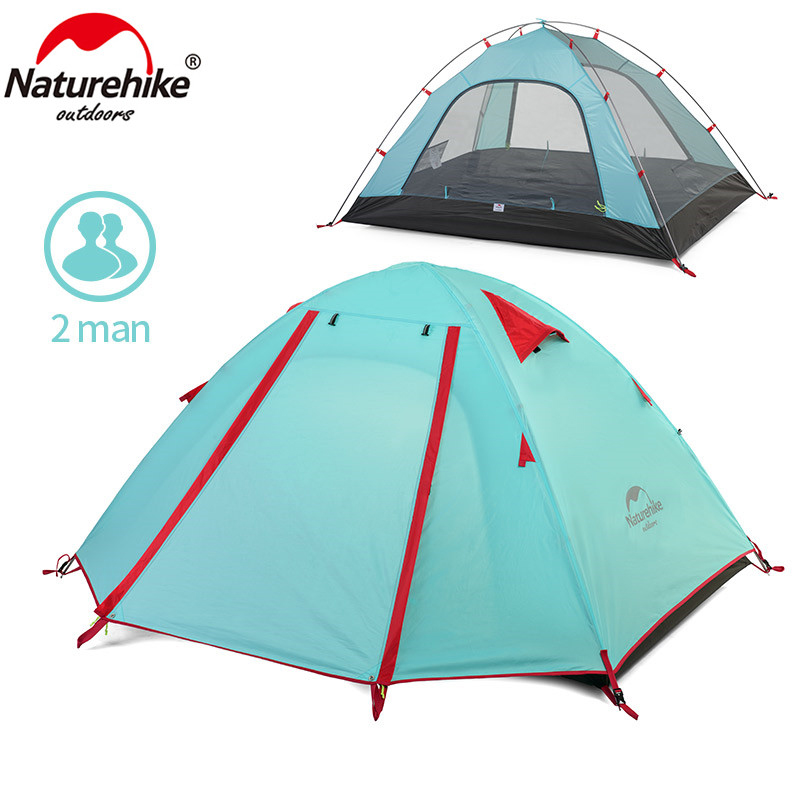 NatureHike P Series Classics Tent 210T Fabric  For 2 Person NH15Z003-P specialized p series минск
