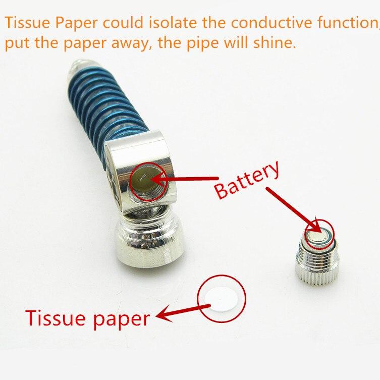 1PC LED gaismas galvaskausa elektroniskā metāla tabakas cauruļu - Mājsaimniecības preces - Foto 6