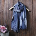2016 cores de algodão e linho cachecol Todo o Jogo fêmea Sen literária impresso longo Xale Protetor Solar Primavera verão outono cachecol R992