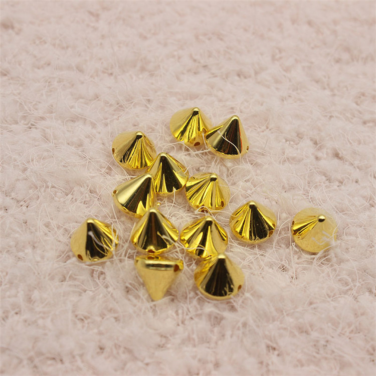CCB plastic sew on spikes bullet punk garment rivet studs for bag, hat,jeans, shoe,leather chocker diy craft accessories