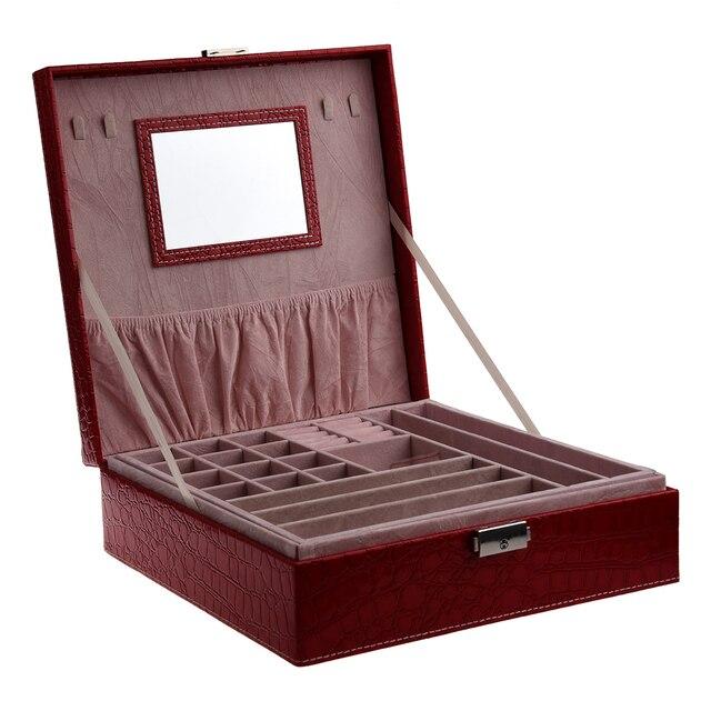 Femme dame filles actrice Portable voyage bijoux organisateur boucle doreille/anneau/collier/montre Etc cosmétique stockage conteneur boîte Case