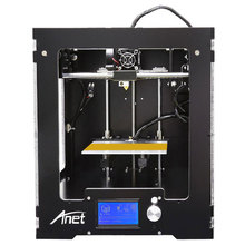 Анет A3 Полный Собранный Алюминиевый-Акриловая Рамка Большой Размер Рабочего Стола 3D Принтер Высокая Точность + LCD + Очаг 16 Г SD Card + 2 Рулона Нити