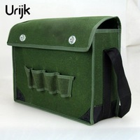 Urijk Green Tool Bag Multifunction Waterproof Wearable Storage Repair Tools Bag Oxford Canvas Outdoor Working Shoulder