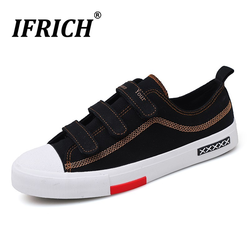 2019 New Male Canvas Flats Shoes Designer Young Casual Footwear For Men Classic Boy Canvas Shoes Low Top Walking Men Shoes