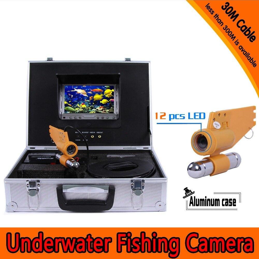 (1 set) 30M Cable Underwater Fishing Camera HD 700TVL Waterproof CMOS lens night version camera Diving Camera Fish finder
