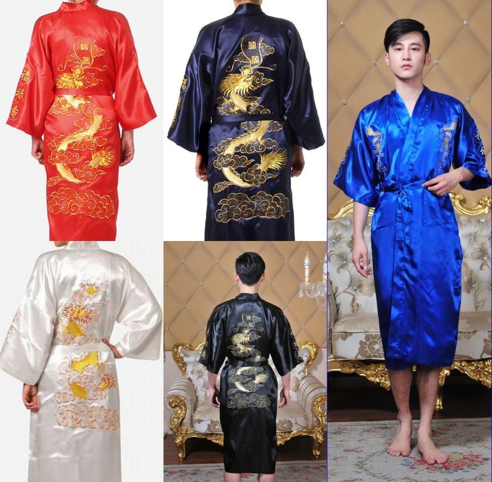 timeless design 01d26 dfdd8 bademantel kimono Mann hombre chinesisch cheongsam männer ...