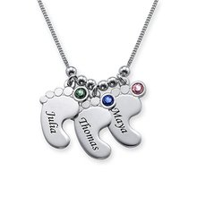 Baby Feet Necklace New Arrival Birthstone Necklace Custom Any Names Best Birthday Gift for Mom Can Dropshipping YP2978 best baby names for 2015