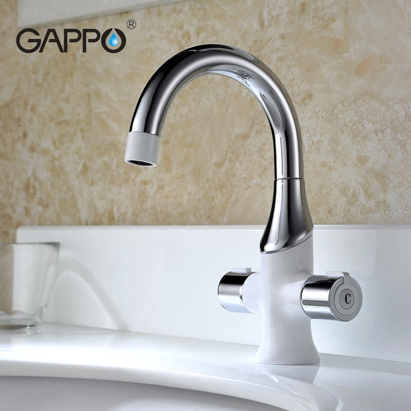 GAPPO water mixer tap Basin sink Faucet bathroom sink tap mixer bathroom faucet white brass faucet