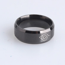 Anti allergy New width 8mm men women Naruto rings stainless steel jewelry