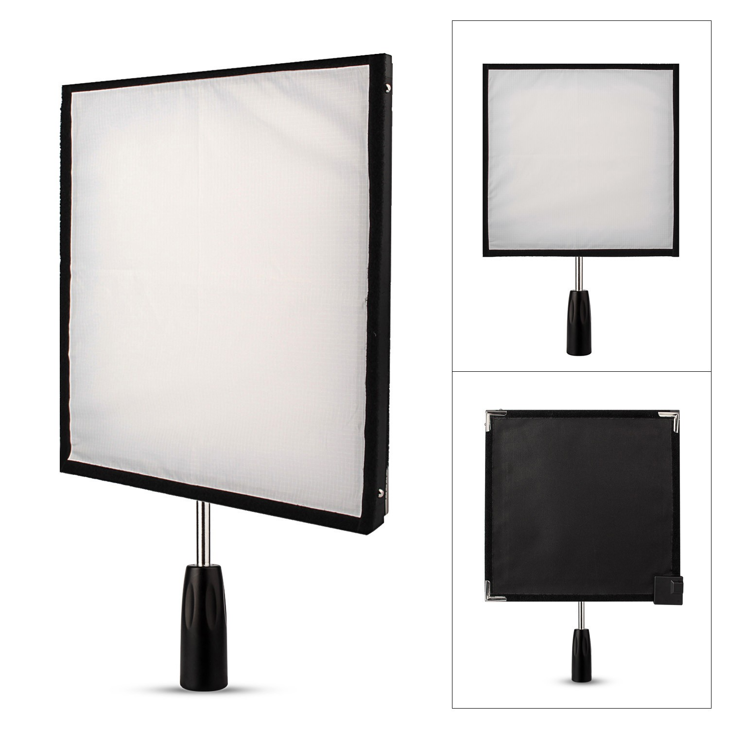 Travor FL 3030 30x30cm Flex Mat 5500K 256 LED Flexible Moldable LED Video Fabric Light Slim Ultralight Panel with 2.4G Remote