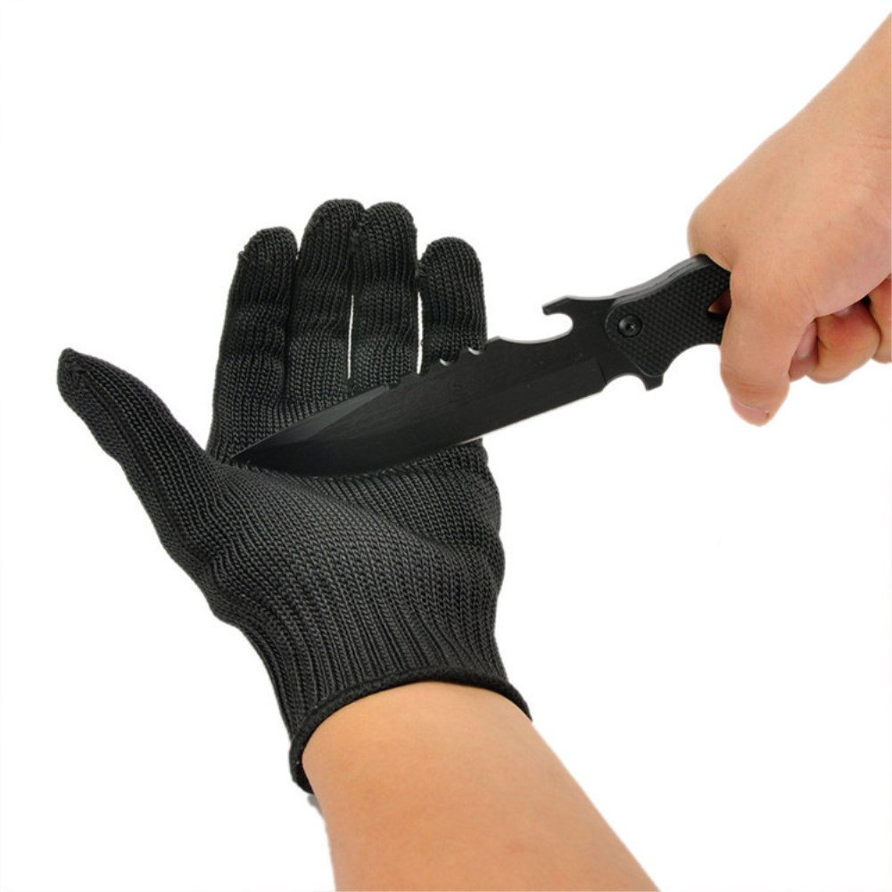 REBUNE Cut Resistant Working Gloves With Stainless Steel Wire Protective Safety Gloves Metal Tactical Butcher Steel GlovesRE8004 1pcs safety gloves cut proof stab resistant stainless steel wire metal mesh butcher anti knife