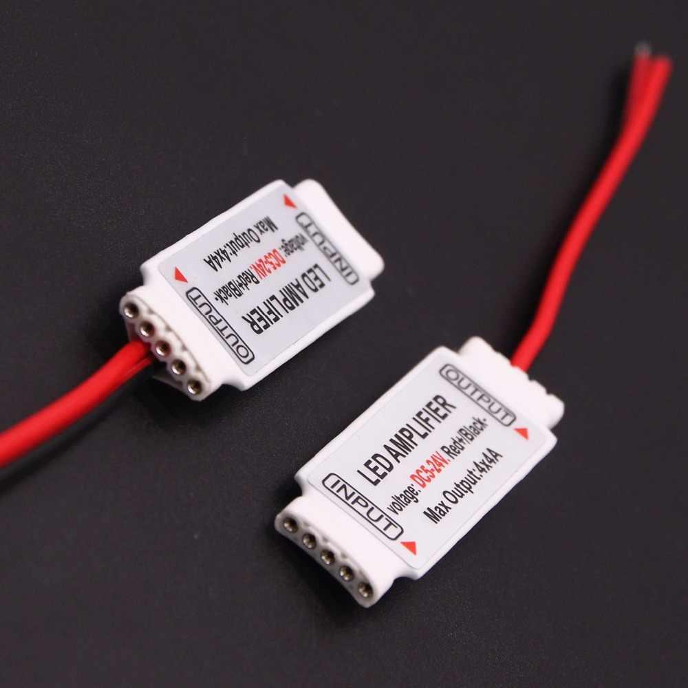 5 broches RGBW amplificateur 1 pièces DC5-24V RGBW contrôleur 4 Chinnel pour 5050 RGB blanc chaud RGBWW LED bande